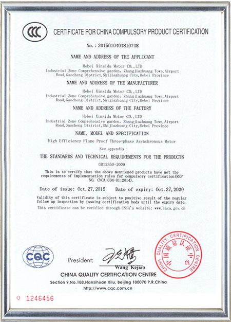 CCC Свидетельство о допущении
